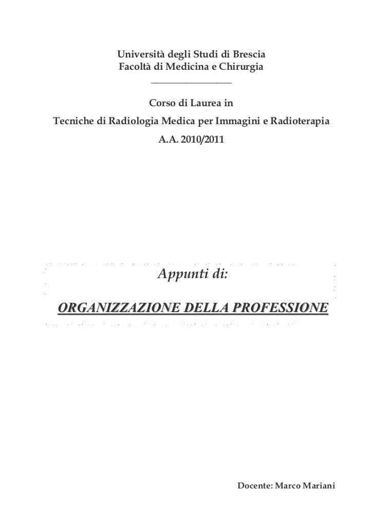 Università degli Studi di Brescia             Facoltà di Medicina e Chirurgia                    ________________         ...