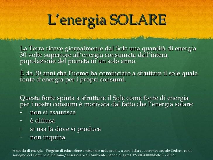 A Cosa Serve L Energia Solare.Cedocs Dispensa Energia
