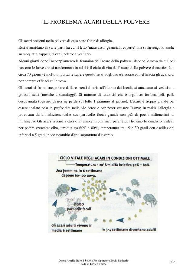 Dispensa zampedri mg4 ud2 14 15 - Allergia acari materasso ...