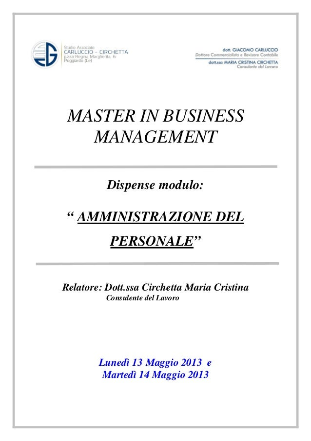 Master in business administrative