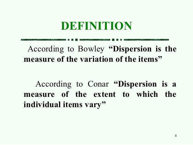 measures of dispersion in statistics pdf