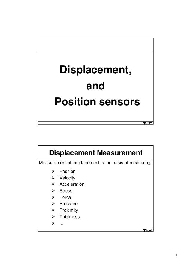 Displacement,             and       Position sensors                                                 單秋成    Displacement M...