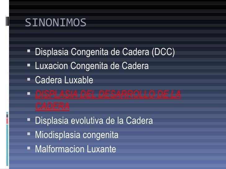 Displasia Evolutiva de Cadera Slide 2