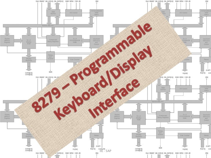 8279 – Programmable Keyboard/Display Interface<br />IIE - SAP <br />