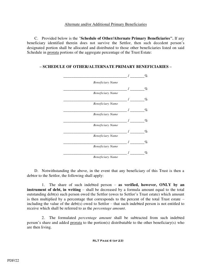 Living Trust Form Sample Power Of Attorney Form Template Power Of