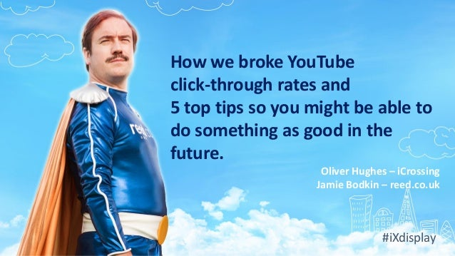 How we broke YouTube click-through rates and 5 top tips so you might be able to do something as good in the future. Oliver...