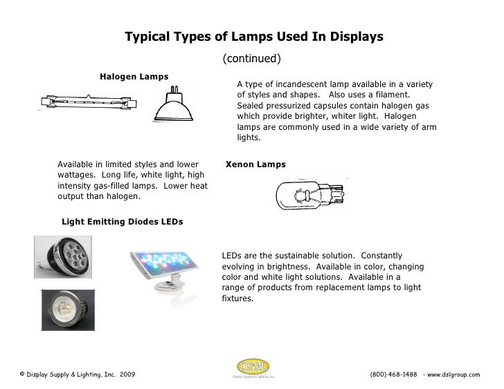 display lighting presentation