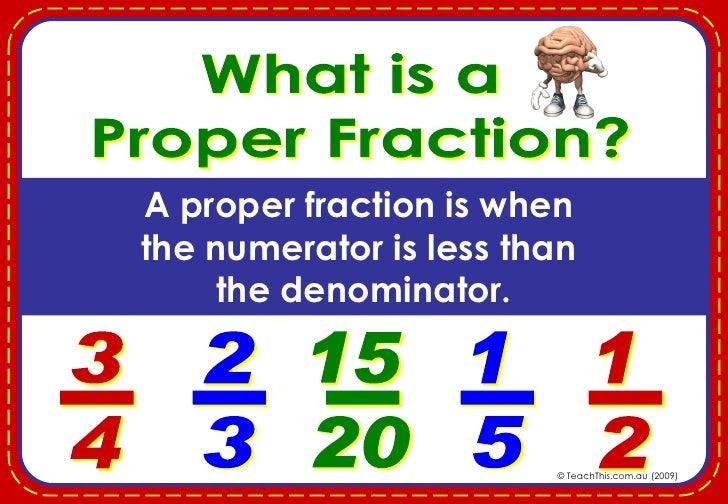3 A Proper Fraction