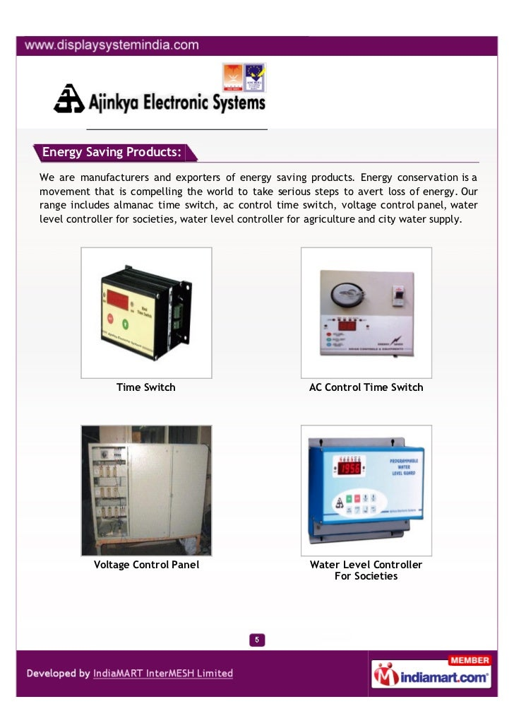 Energy Saving Products:We are manufacturers and exporters of energy saving products. Energy conservation is amovement that...