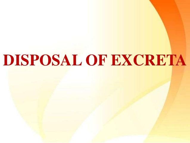 DISPOSAL OF EXCRETA