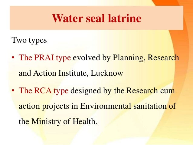 types of latrine