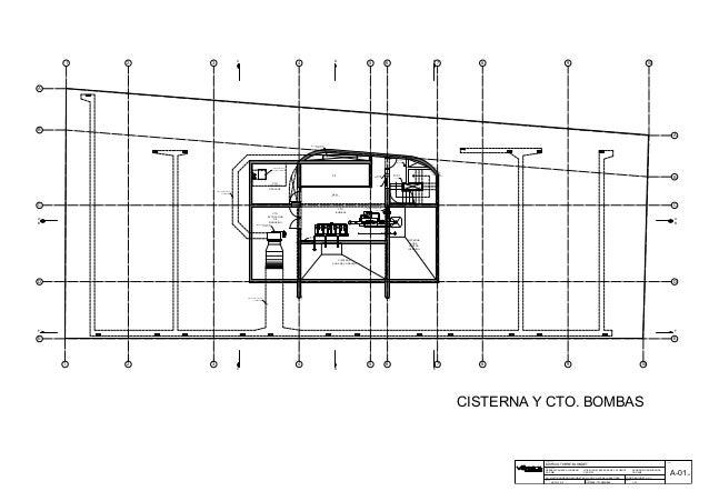 CISTERNA Y CTO. BOMBAS G.C.I. PASE DE MANGUERA HALL CTO. EXTRACCION DE MONOXIDO DUCTO DE EXTRACCION DE MONOXIDO DUCTO DE D...