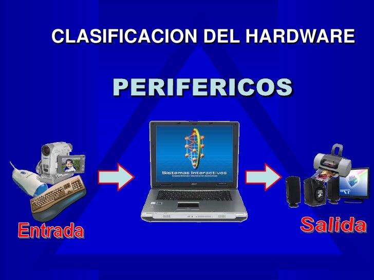 Dispositivos de entrada y salida for Elementos de hardware
