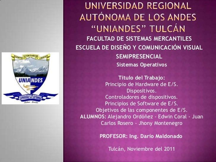 FACULTAD DE SISTEMAS MERCANTILESESCUELA DE DISEÑO Y COMUNICACIÓN VISUAL             SEMIPRESENCIAL              Sistemas O...