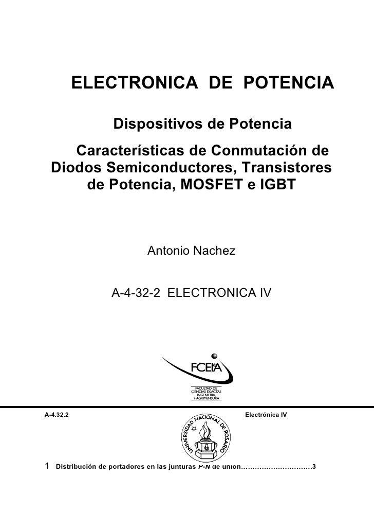 ELECTRONICA DE POTENCIA                    Dispositivos de Potencia        Características de Conmutación de     Diodos Se...