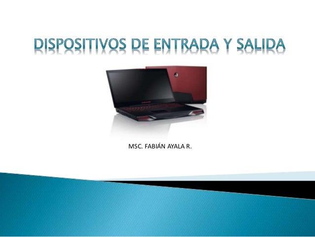 MSC. FABIÁN AYALA R.