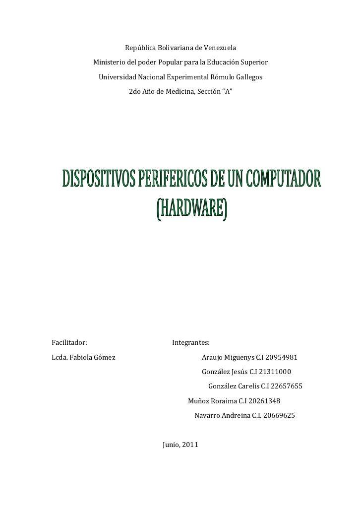 República Bolivariana de Venezuela<br />Ministerio del poder Popular para la Educación Superior<br />Universidad Nacional ...