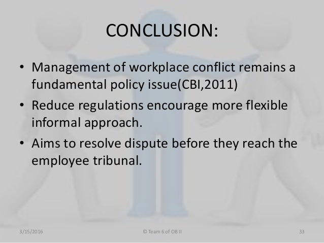 case studies conflict management decision making Workplaces that work - case study series  that work » conflict at work workplaces that work  and the social setting such as in a decision making process .