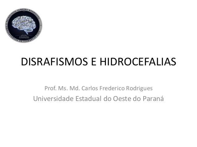 DISRAFISMOS E HIDROCEFALIAS Prof. Ms. Md. Carlos Frederico Rodrigues Universidade Estadual do Oeste do Paraná