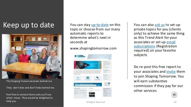 Keep up to date You can stay up-to-date on this topic or choose from our many automatic reports to determine what's next i...