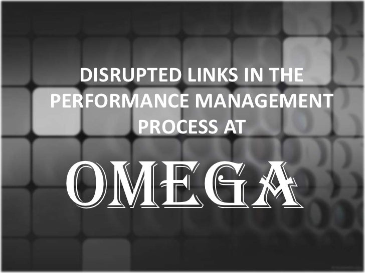 Disrupted links in the performance management process