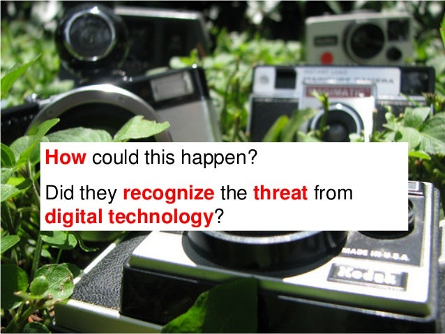 How could this happen?Did they recognize the threat fromdigital technology?How did Polaroid react?Let's take a look at thi...