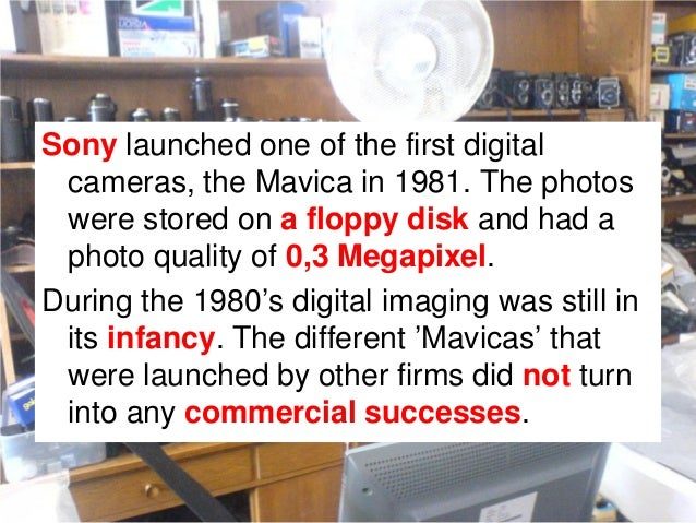 So technologically speaking,Polaroid was well prepared forthe shift to digital imaging. Iteven had a sensor of 1,9megapixe...