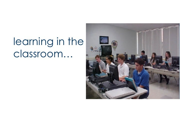 <ul><li>learning in the classroom… </li></ul>