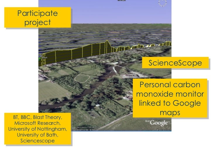 Participate project ScienceScope BT, BBC, Blast Theory, Microsoft Research, University of Nottingham, University of Bath, ...