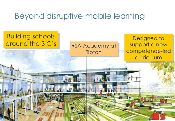 Beyond disruptive mobile learning RSA Academy at Tipton Designed to support a new competence-led curriculum Building schoo...