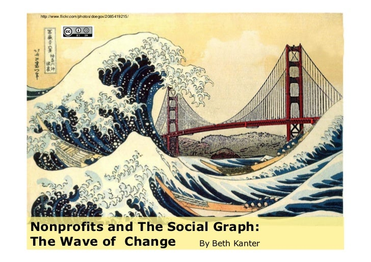 http://www.flickr.com/photos/doegox/2085419215/     Nonprofits and The Social Graph: The Wave of Change     By Beth Kanter