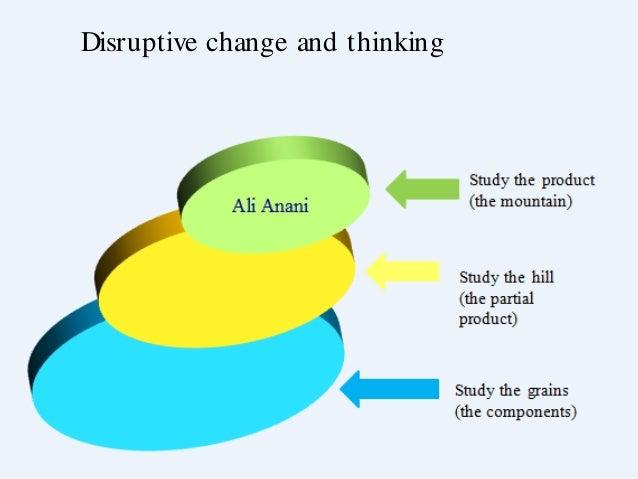 Disruptive change and thinking