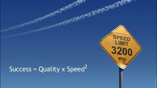 ©DanielAttallah Success = Quality x Speed2