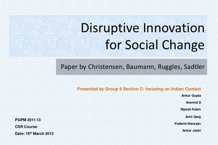 Discontinuous Innovation: Radically change how you think