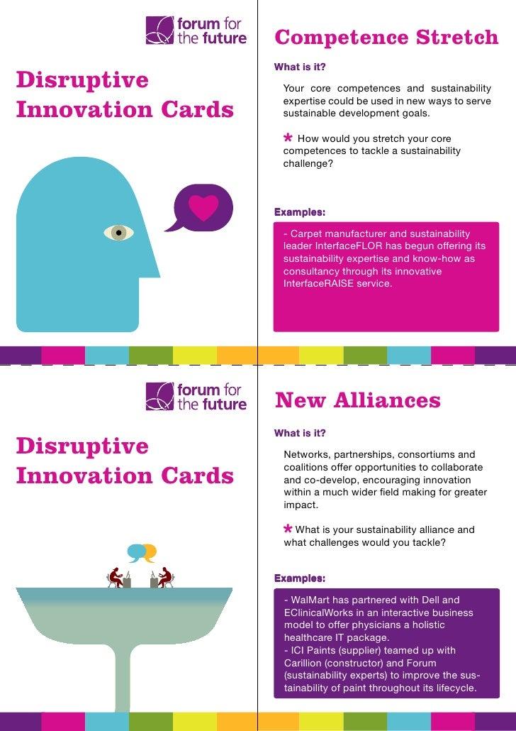 disruptive innovation cards