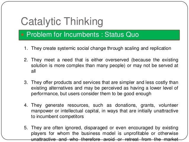Catalytic Thinking