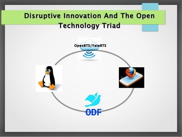 Disruptive Innovation Open Technology Triad
