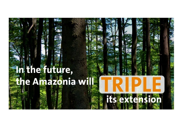 In the future, the Amazonia will                     TRIPLE                     its extension