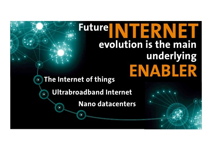 Future                   INTERNET                 evolution is the main                              underlying  The Inter...