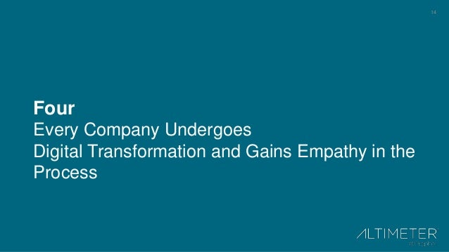 14 Four Every Company Undergoes Digital Transformation and Gains Empathy in the Process