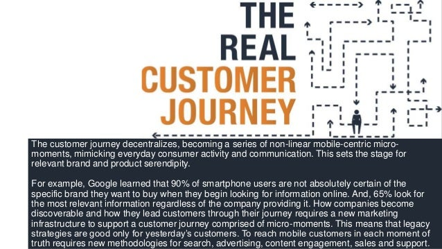 The customer journey decentralizes, becoming a series of non-linear mobile-centric micro- moments, mimicking everyday cons...