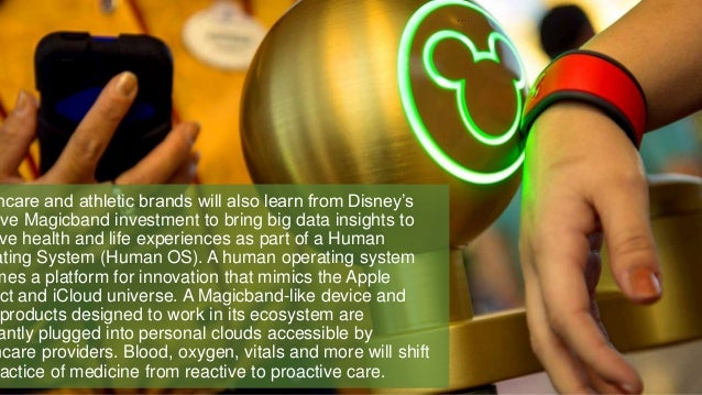 hcare and athletic brands will also learn from Disney's ive Magicband investment to bring big data insights to ve health a...