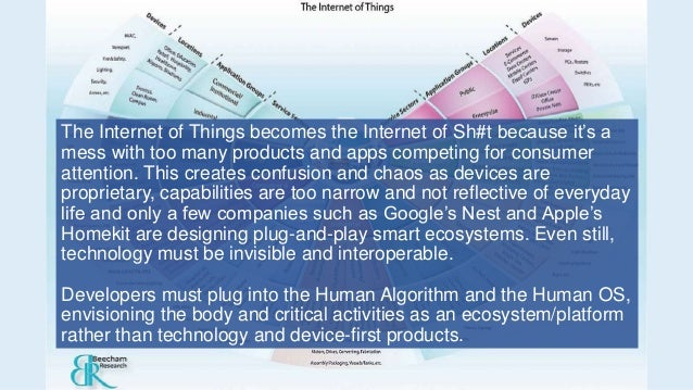 The Internet of Things becomes the Internet of Sh#t because it's a mess with too many products and apps competing for cons...