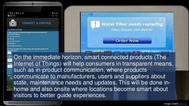 On the immediate horizon, smart connected products (The Internet of Things) will help consumers in transparent means, such...