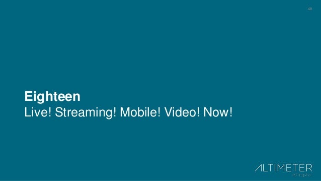 48 Eighteen Live! Streaming! Mobile! Video! Now!