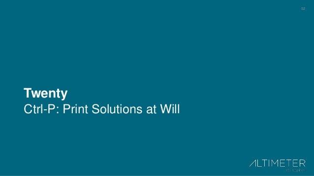 52 Twenty Ctrl-P: Print Solutions at Will