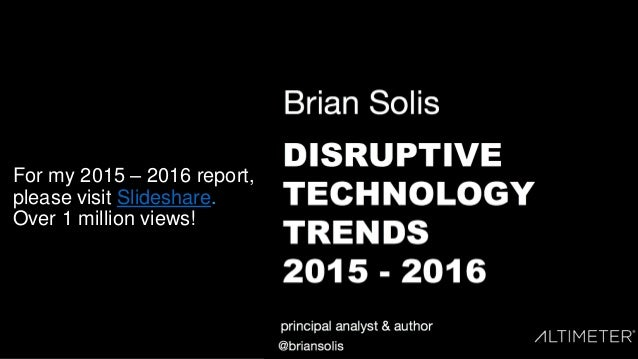 For my 2015 – 2016 report, please visit Slideshare. Over 1 million views!