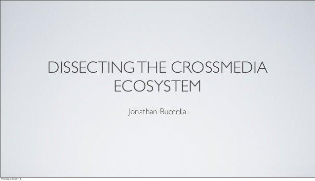 DISSECTINGTHE CROSSMEDIAECOSYSTEMJonathan BuccellaThursday, 25 April, 13