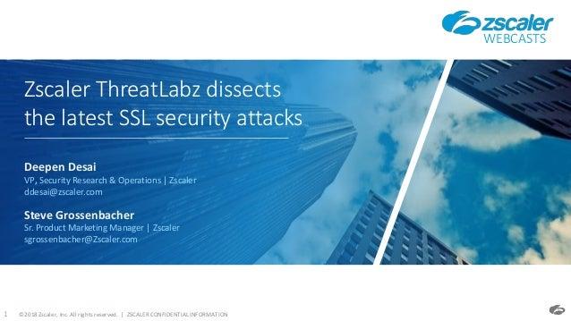 Dissecting ssl threats