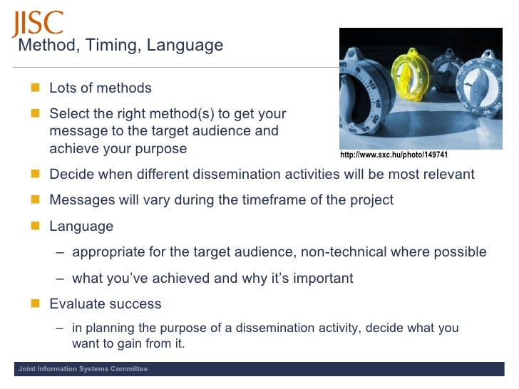Method, Timing, Language      Lots of methods     Select the right method(s) to get your      message to the target audi...